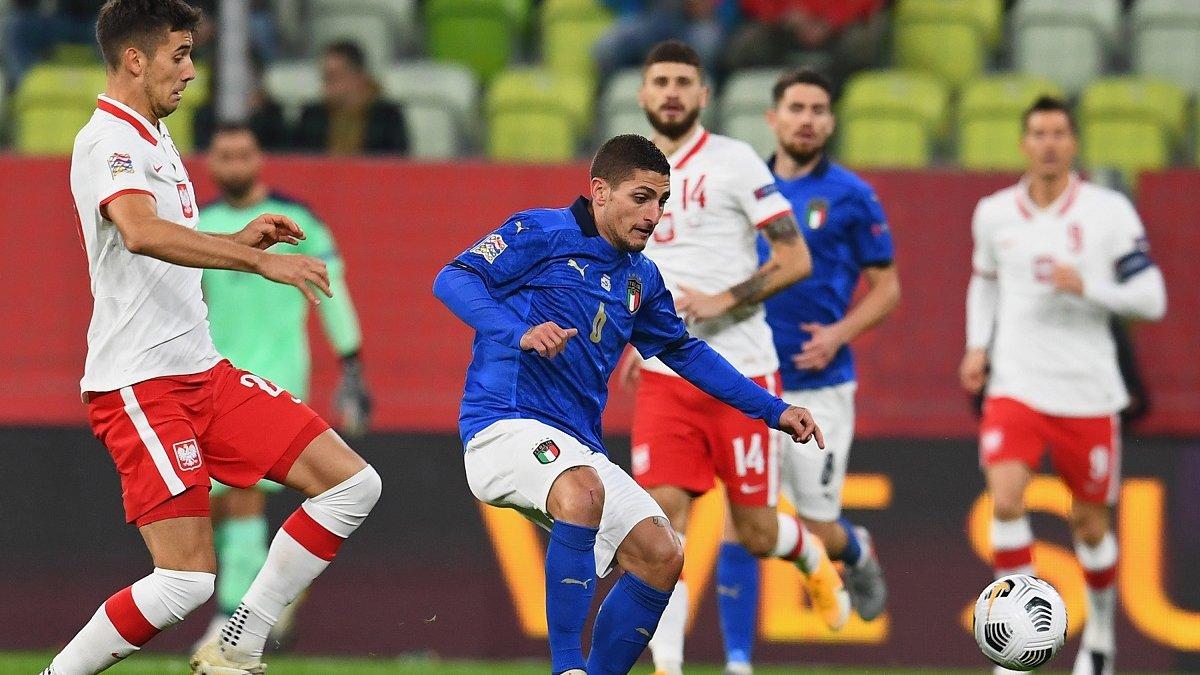 Италия на выезде не смогла одолеть Польшу, но сохранила первое место в группе А1
