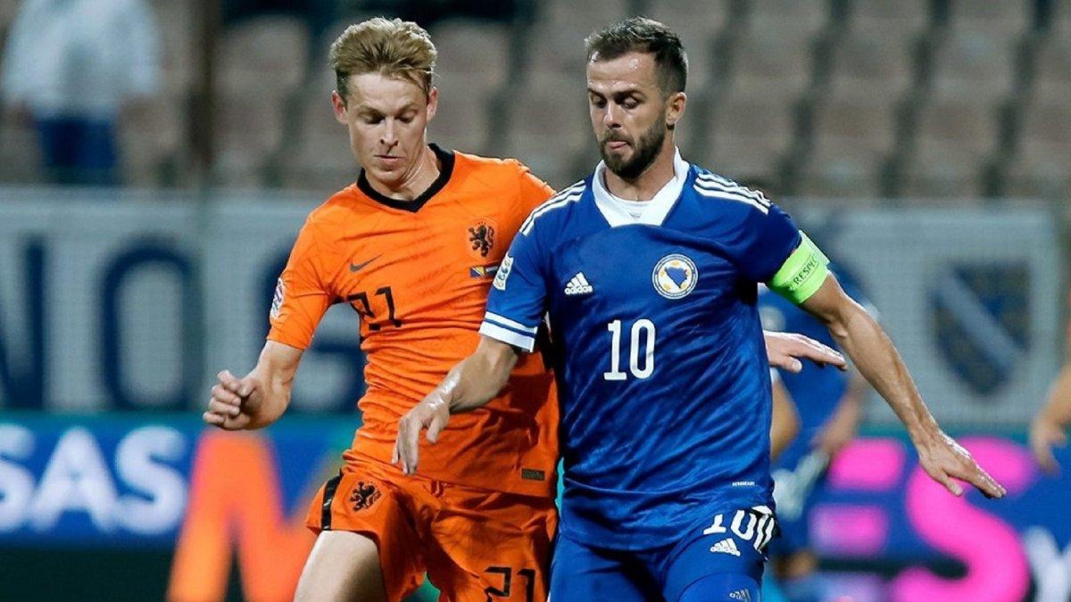 Босния и Герцеговина в сложнейшем матче удержала ничью против Нидерландов