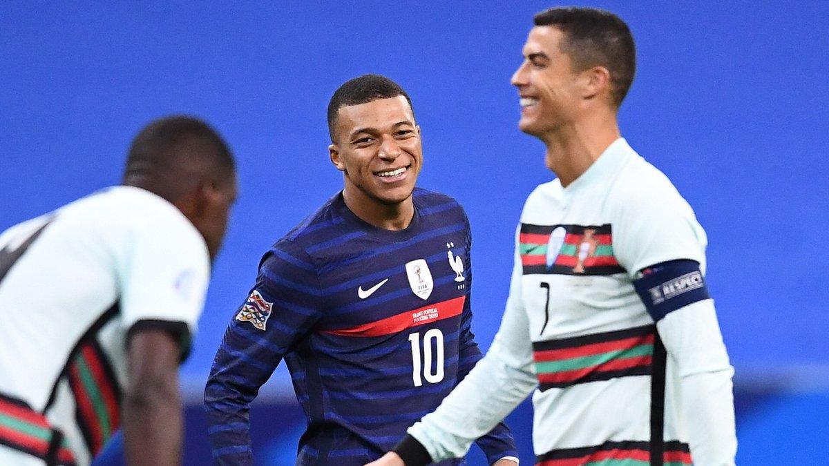 Довгоочікувана зустріч Роналду та Мбаппе у відеоогляді матчу Франція – Португалія