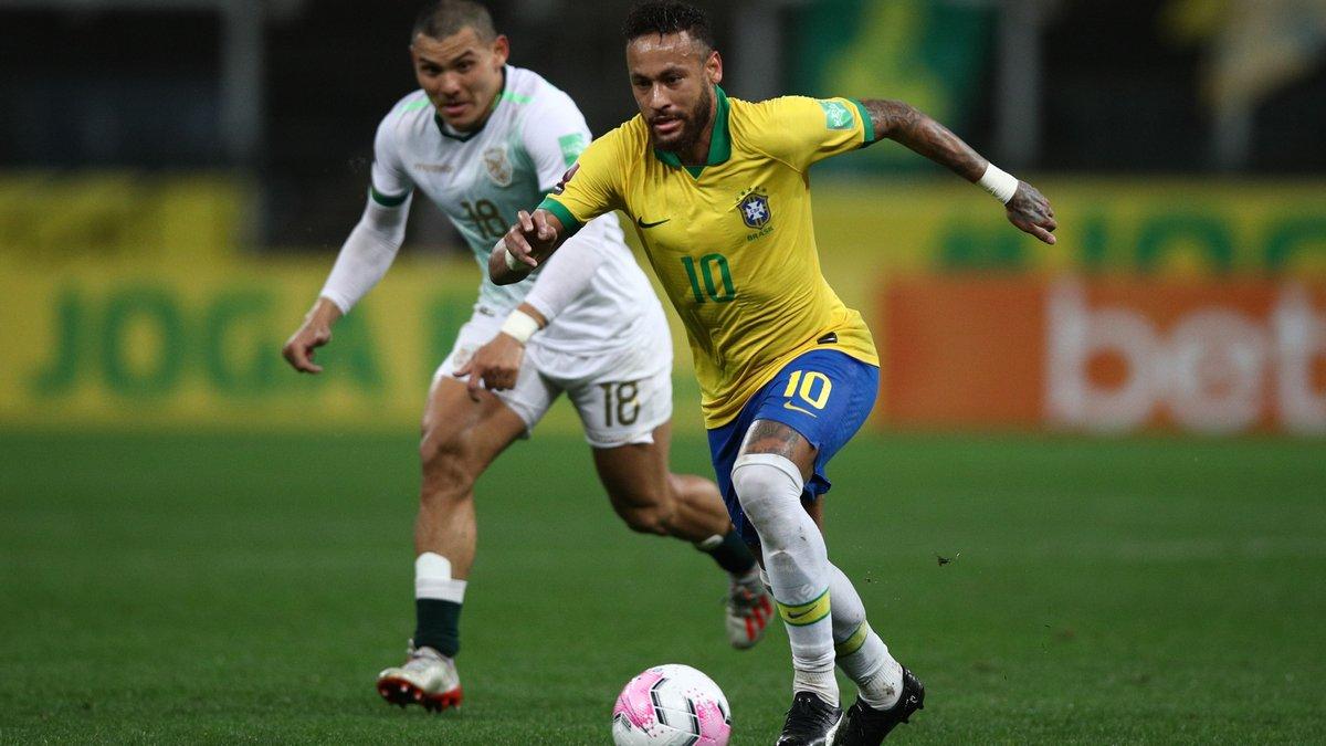 Неймар превзошел достижение Месси в поединке за сборную Бразилии