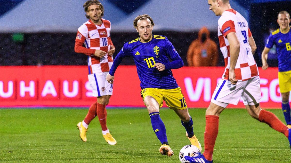 Лига наций: Хорватия на последних минутах одолела сборную Швеции в поединке аутсайдеров группы A3