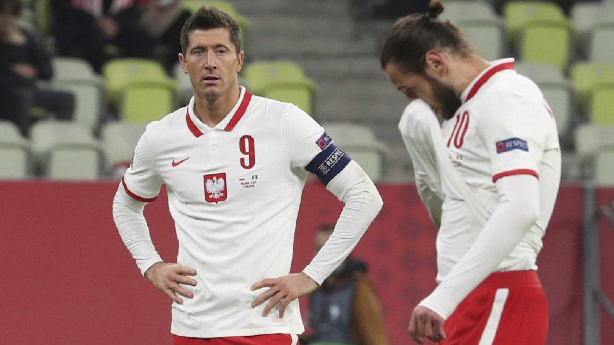 Лєвандовскі у збірній Польщі замінили вперше за 5 років – форвард зазнав травми у матчі проти Італії