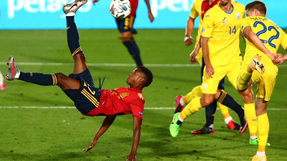 Украина– Испания: онлайн-трансляция матча Лиги наций – как это было