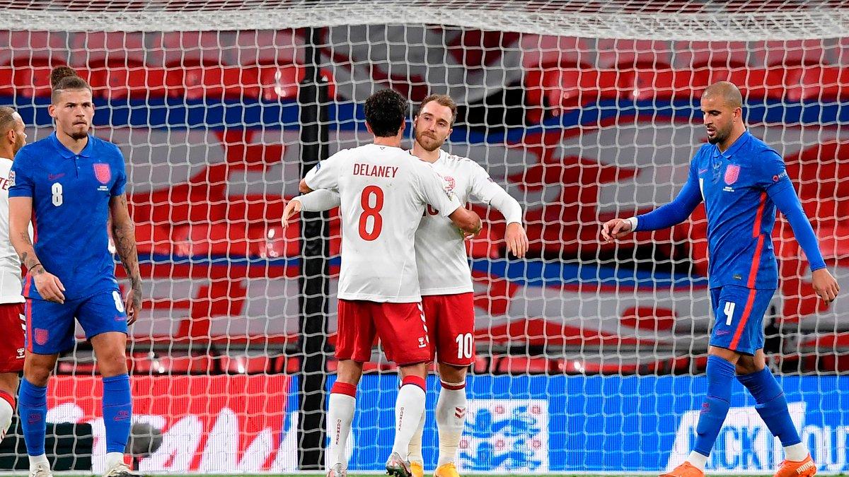 Роковые ошибки Магуайра и Уокера в видеообзоре матча Англия – Дания