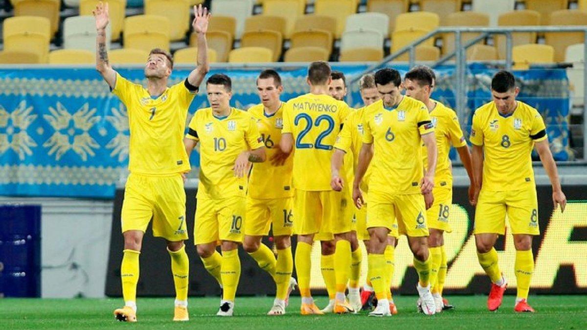 Сборная Украины официально поднялась в рейтинге ФИФА