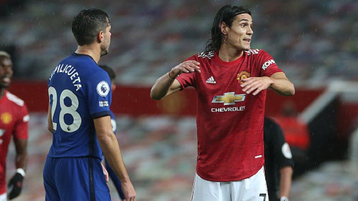 Манчестер Юнайтед расписал ничью с Челси – Кавани дебютировал, а Лэмпард перехитрил Сульшера
