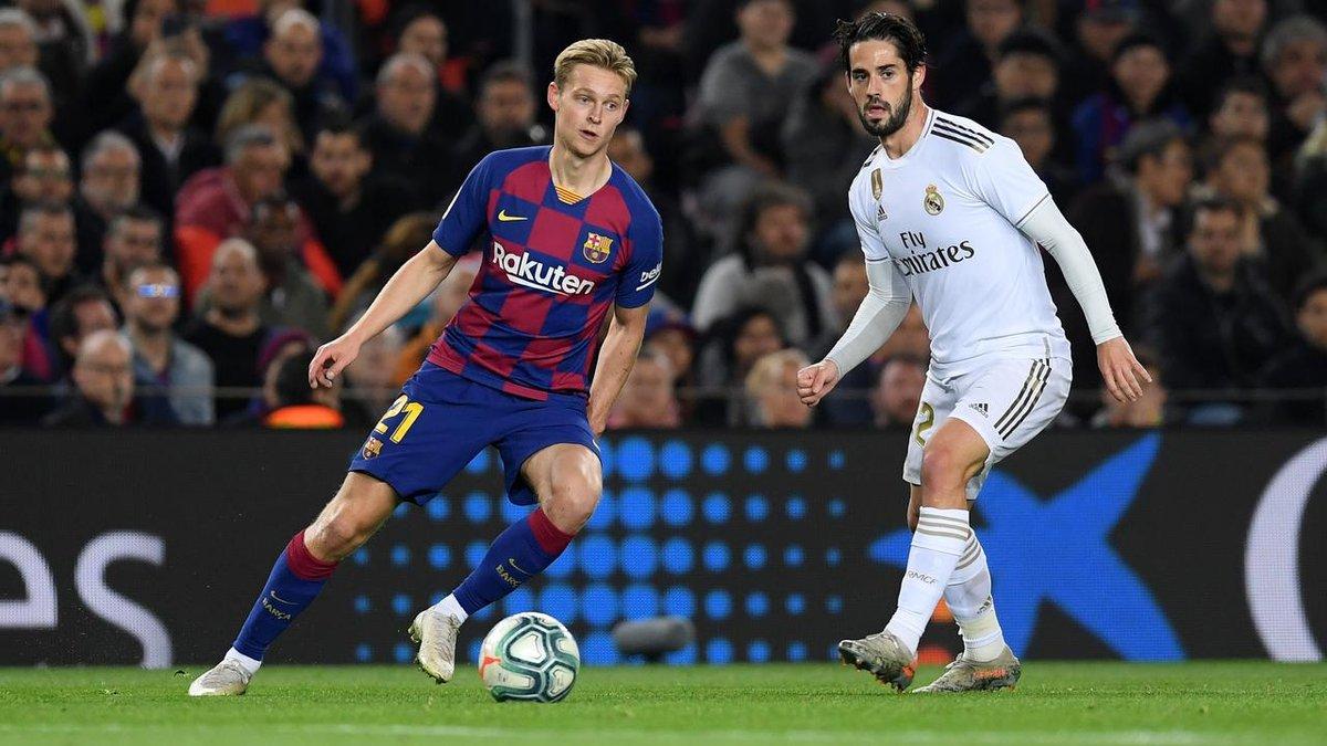 Де Йонг вказав на очевидну перевагу Барселони у матчі проти Реала