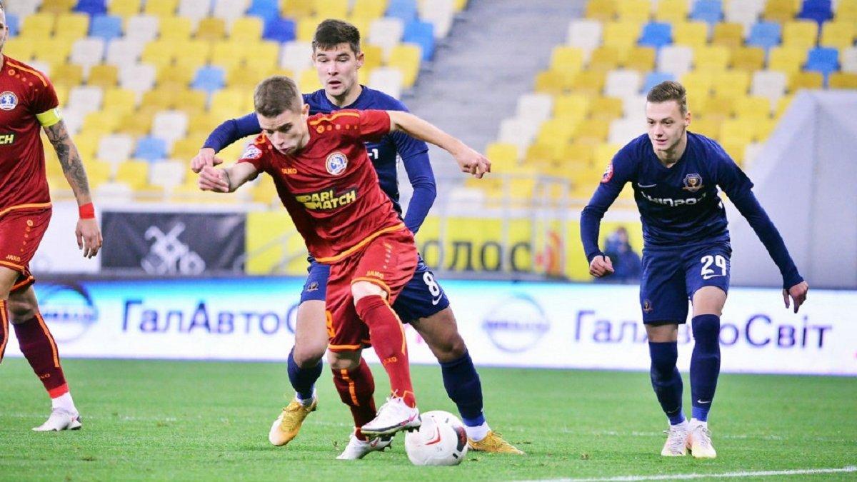 Львів –  СК Дніпро-1 – 1:3 – відео голів та огляд матчу