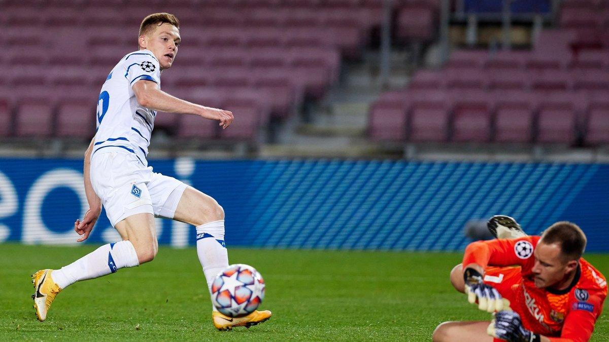 Барселона – Динамо: Instat определил лучшего игрока в составе киевлян