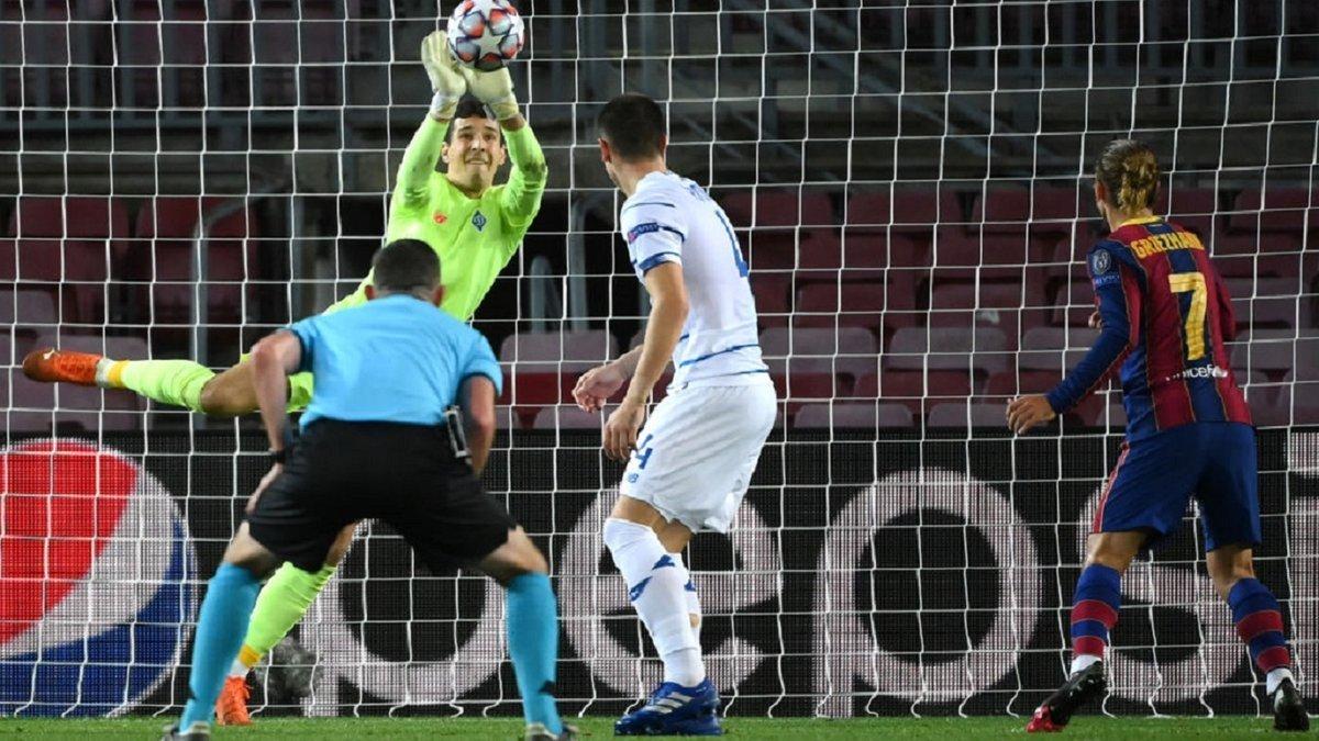 Барселона – Динамо: відео найкращих сейвів Нещерета в дебютному матчі ЛЧ