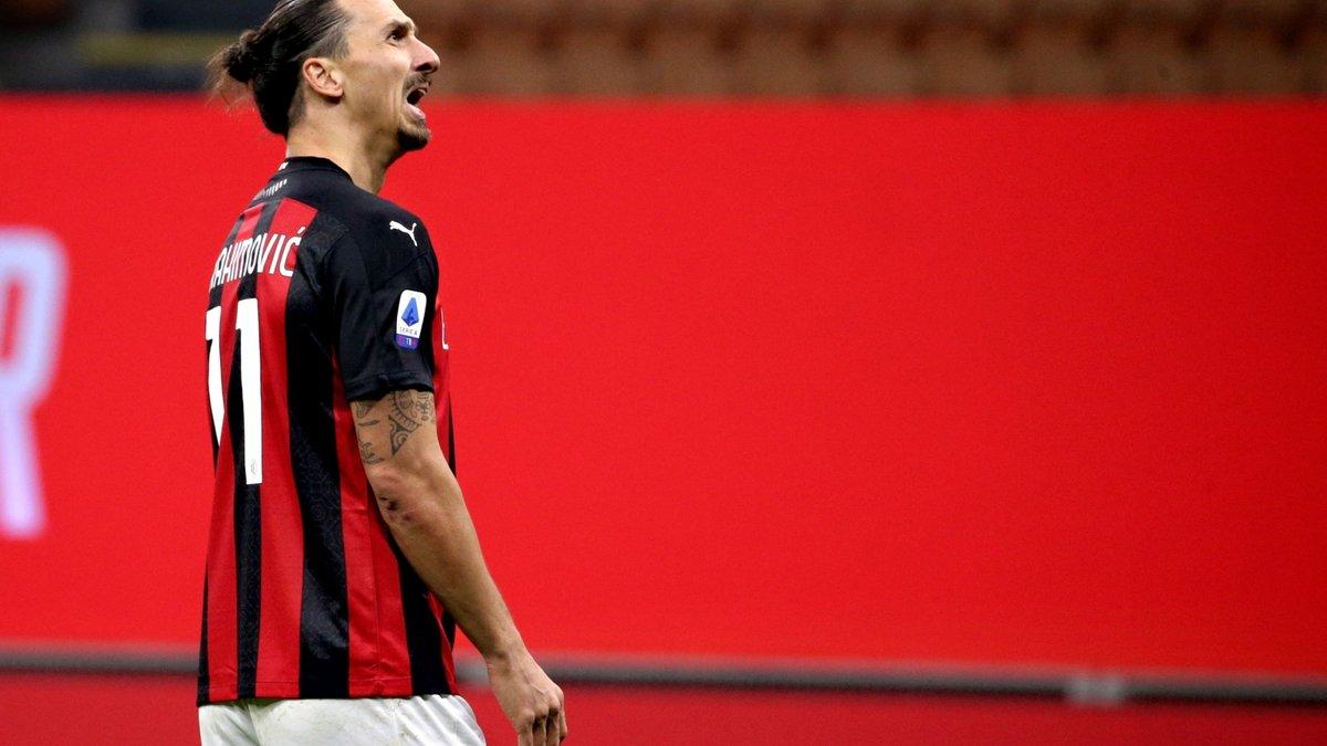 Ибрагимович в компенсированное время спас Милан от первого поражения в Серии А – Златан забил в 7-й игре подряд