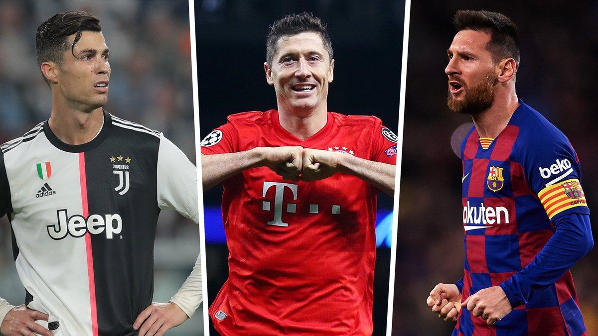 Месси удовлетворился местом в тройке, Роналду только пятый – Goal опубликовал топ-25 игроков мира в 2020 году