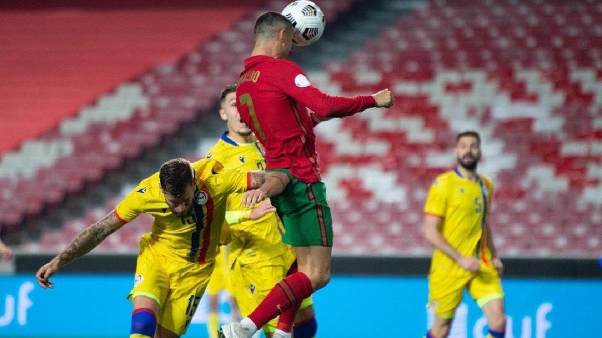 Еще один невероятный рекорд Роналду в видеообзоре погрома Португалия – Андорра – 7:0