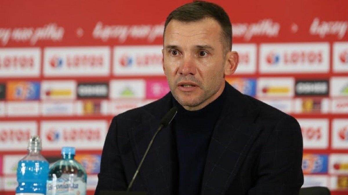 Шевченко озвучив розпорядок збірної України після матчу з Польщею