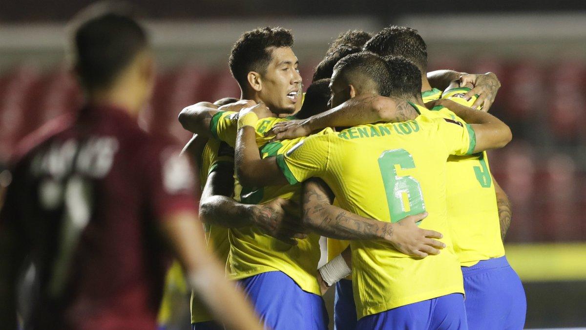 Отбор ЧМ-2022: Фирмино спас Бразилию от позора, Видаль оформил дубль за Чили
