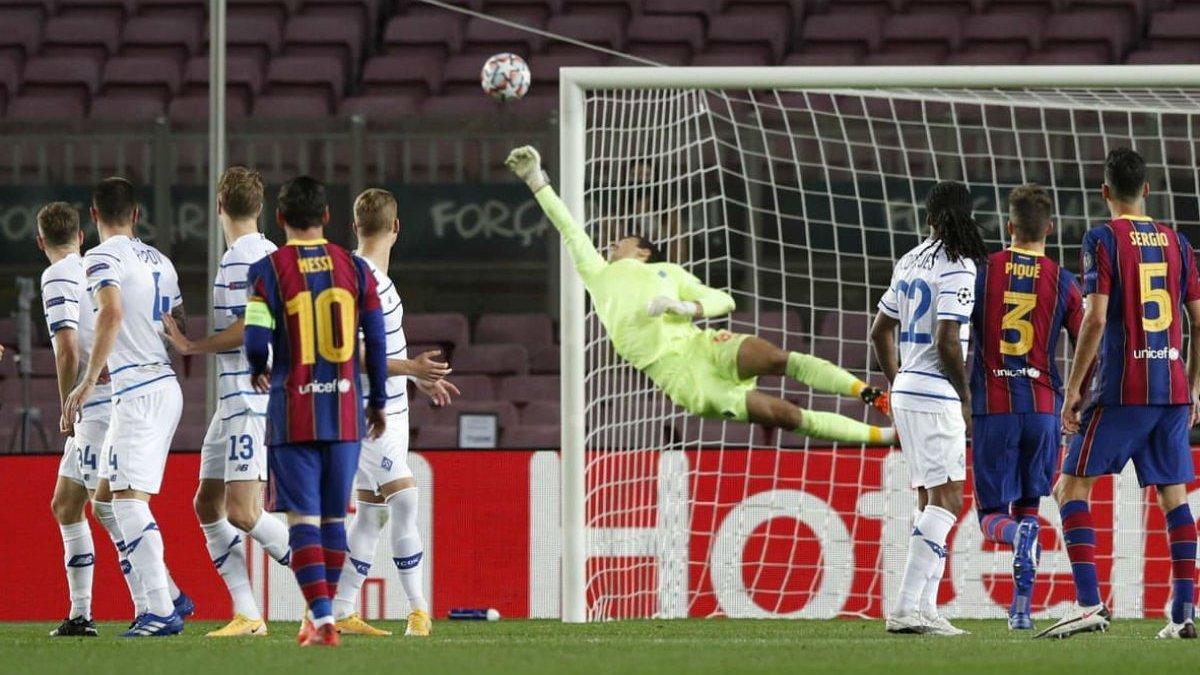 УЄФА обрав найкращі сейви групового етапу Ліги чемпіонів 2020/21 – два з них здійснили воротарі Динамо та Шахтаря