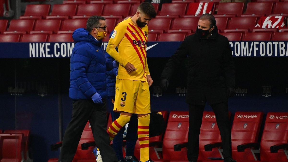 Пике получил повреждение перед матчем с Динамо в Лиге чемпионов