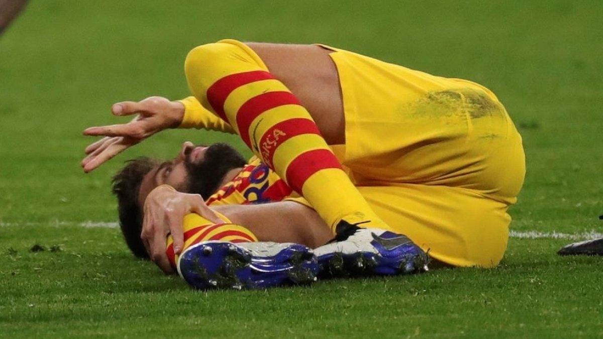 Ужасный диагноз для Пике и Серхи Роберто – Барселона осталась с одним центрбеком перед Динамо
