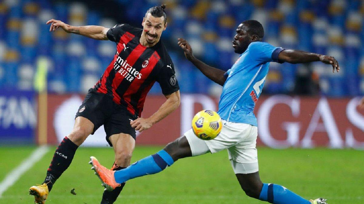 Дубль Ибрагимовича в видеообзоре матча Наполи – Милан – 1:3