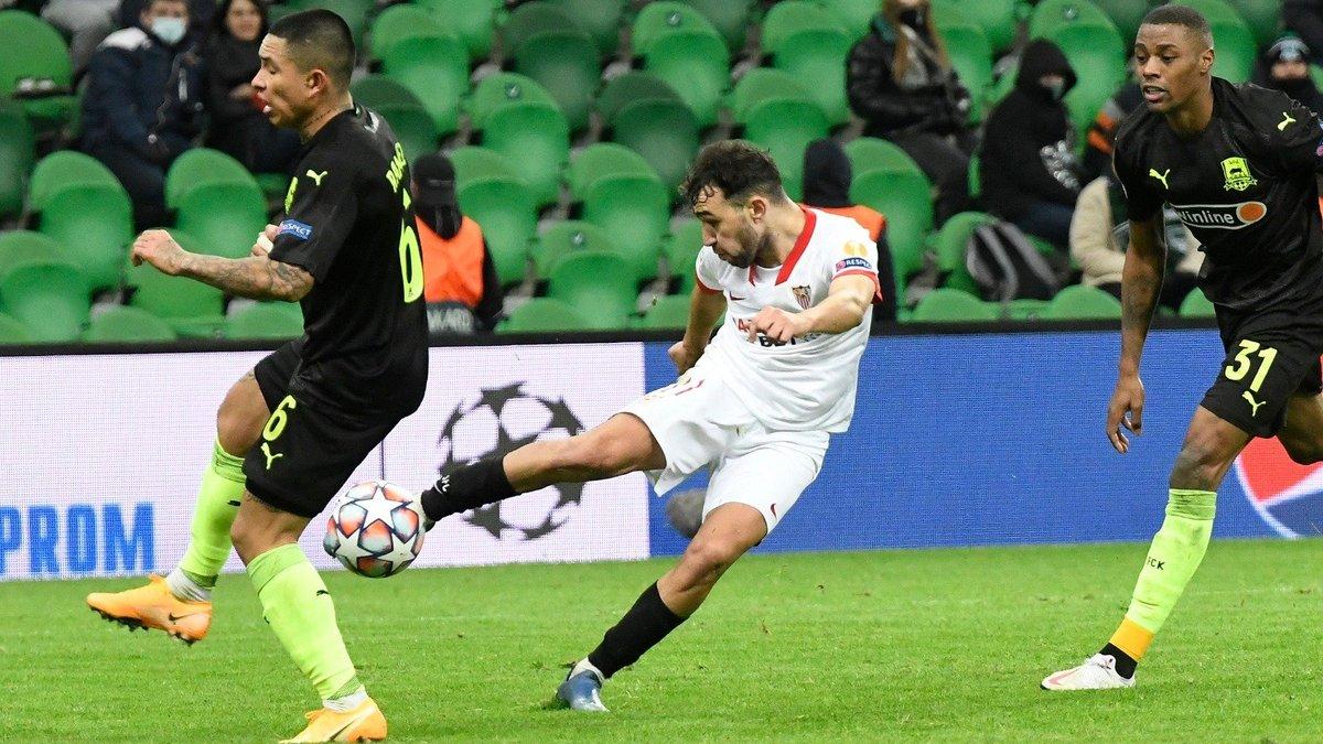 Севилья похоронила шансы Краснодара на плей-офф Лиги чемпионов – видео голов и обзор матча
