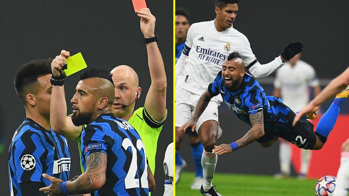 Интер накажет Видаля за идиотское удаление в матче с Реалом