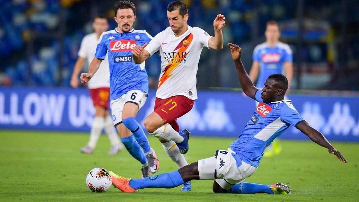 Наполи – Рома: онлайн-трансляция матча Серии А