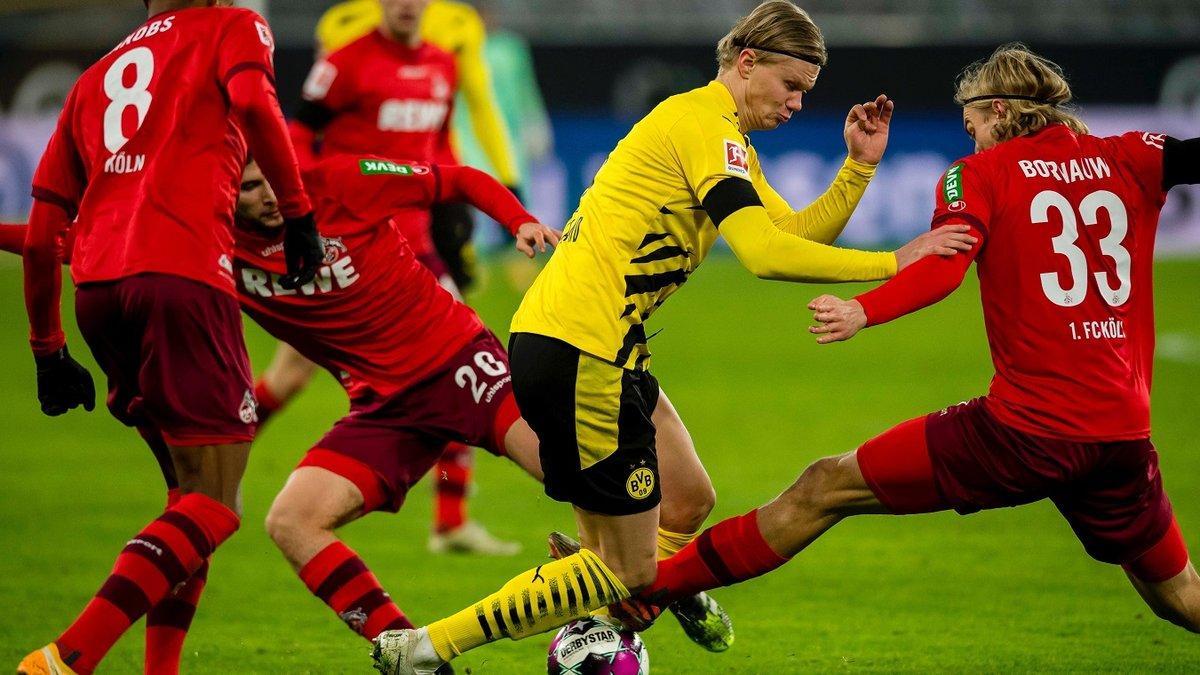 Сумасшедший промах Холанда с 3 метров в видеообзоре матча Боруссия Д – Кельн – 1:2