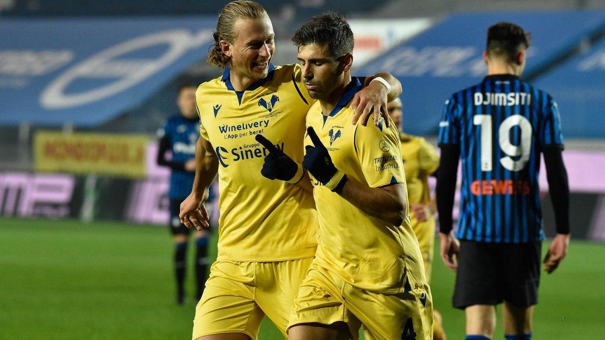 Феерическое выступление экс-звезды Динамо в видеообзоре матча Аталанта – Верона – 0:2