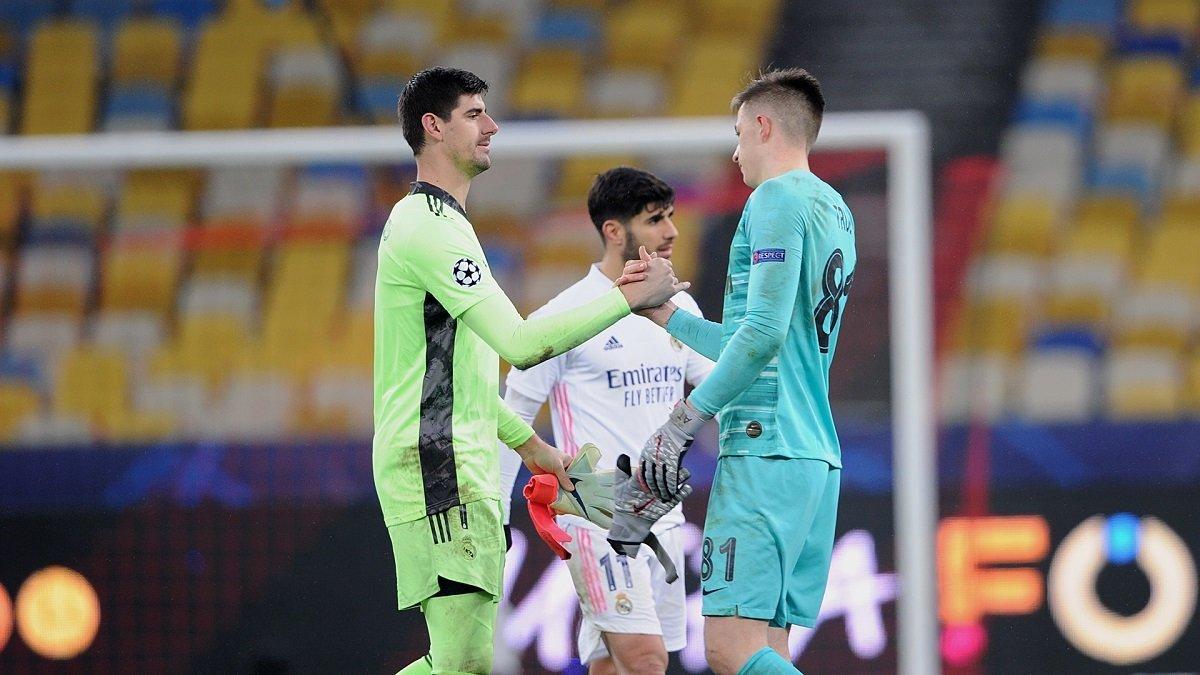 Трубін опинився у символічній збірній УЄФА 5-го туру Ліги чемпіонів
