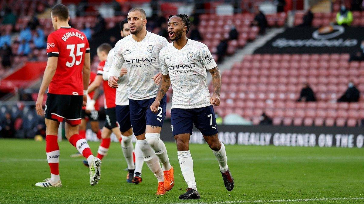 Краса Стерлінга у відеоогляді матчу Саутгемптон – Манчестер Сіті – 0:1