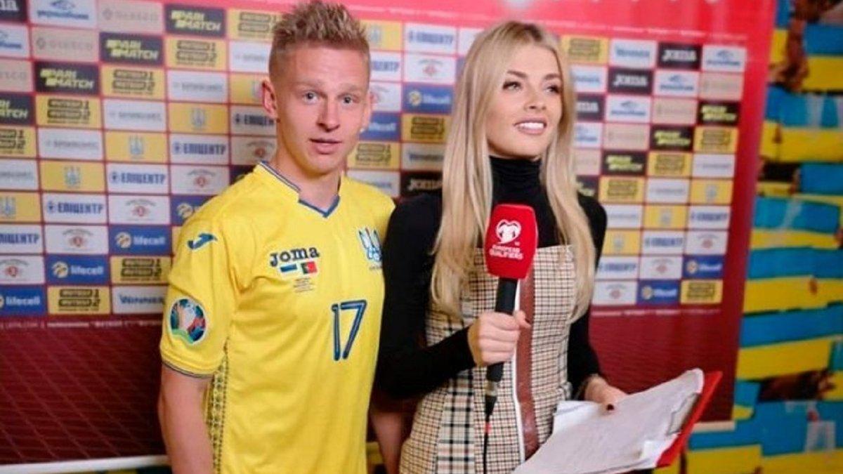 """Дружина Зінченка стане учасницею нового шоу на телеканалах """"Футбол"""""""