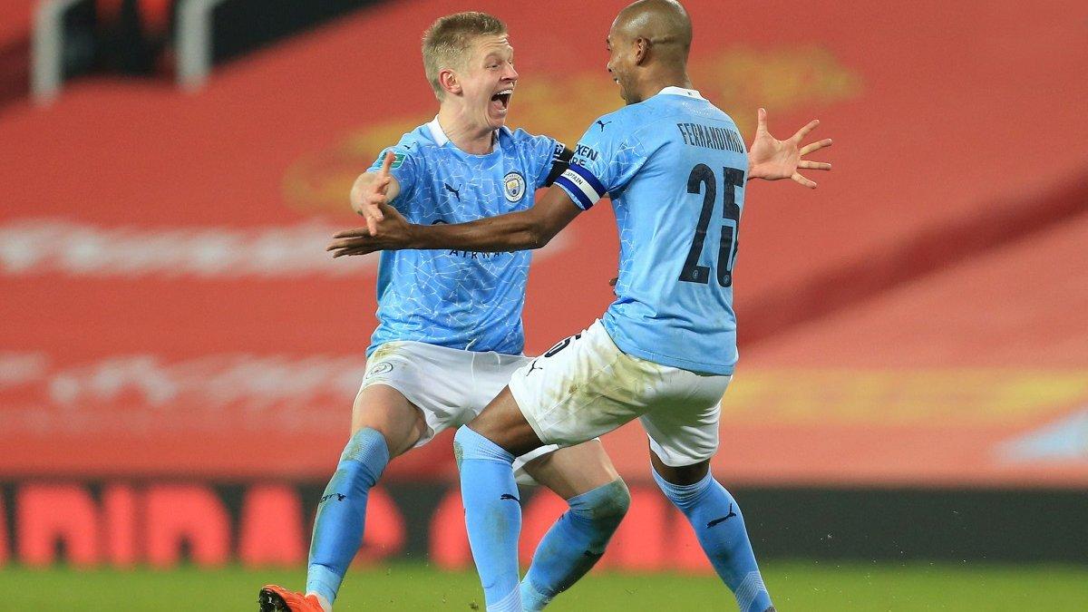 Манчестер Сити с Зинченко одолел Манчестер Юнайтед и четвертый раз подряд вышел в финал Кубка лиги