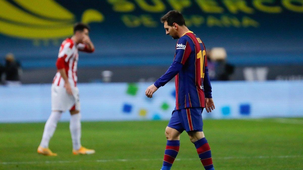 Барселона подаст апелляцию на дисквалификацию Месси за грубый фол в Суперкубке Испании