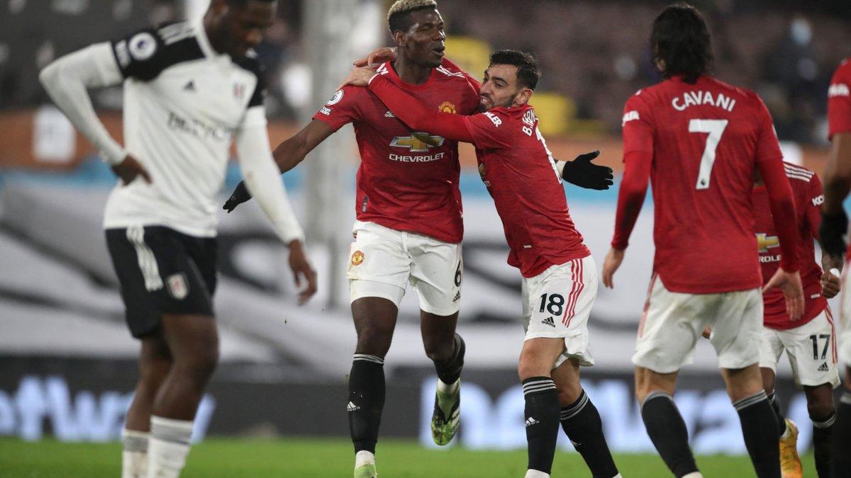 Манчестер Юнайтед благодаря шедевру Погба одолел Фулхэм и поднялся на первую строчку АПЛ