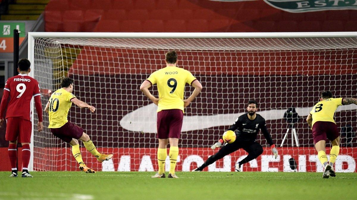 Сенсационное поражение подопечных Клоппа в видеообзоре матча Ливерпуль – Бернли – 0:1