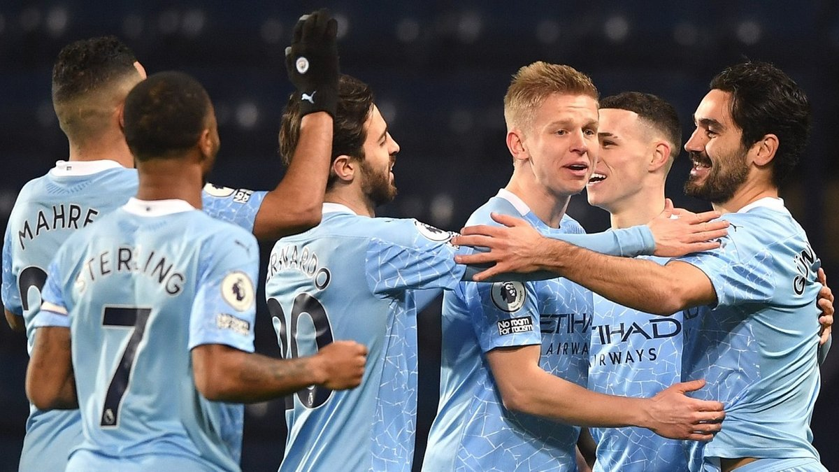 Вест Бромвіч – Манчестер Сіті – 0:5 – відео голів та огляд матчу
