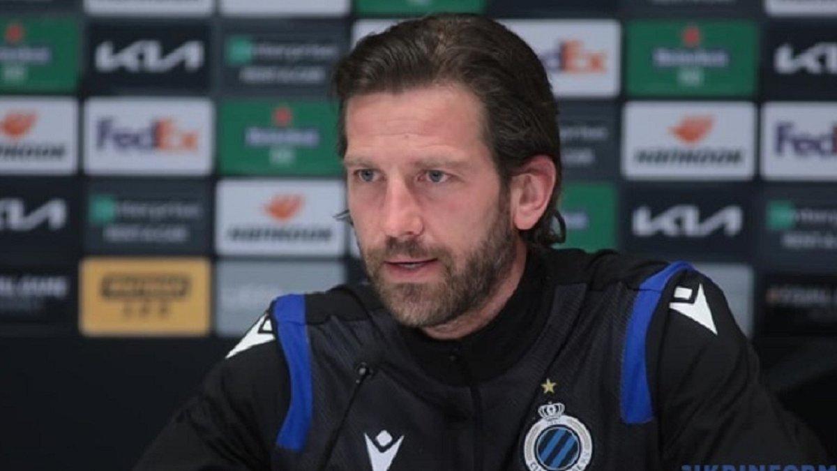 Динамо – Брюгге: післяматчева прес-конференція тренера бельгійців