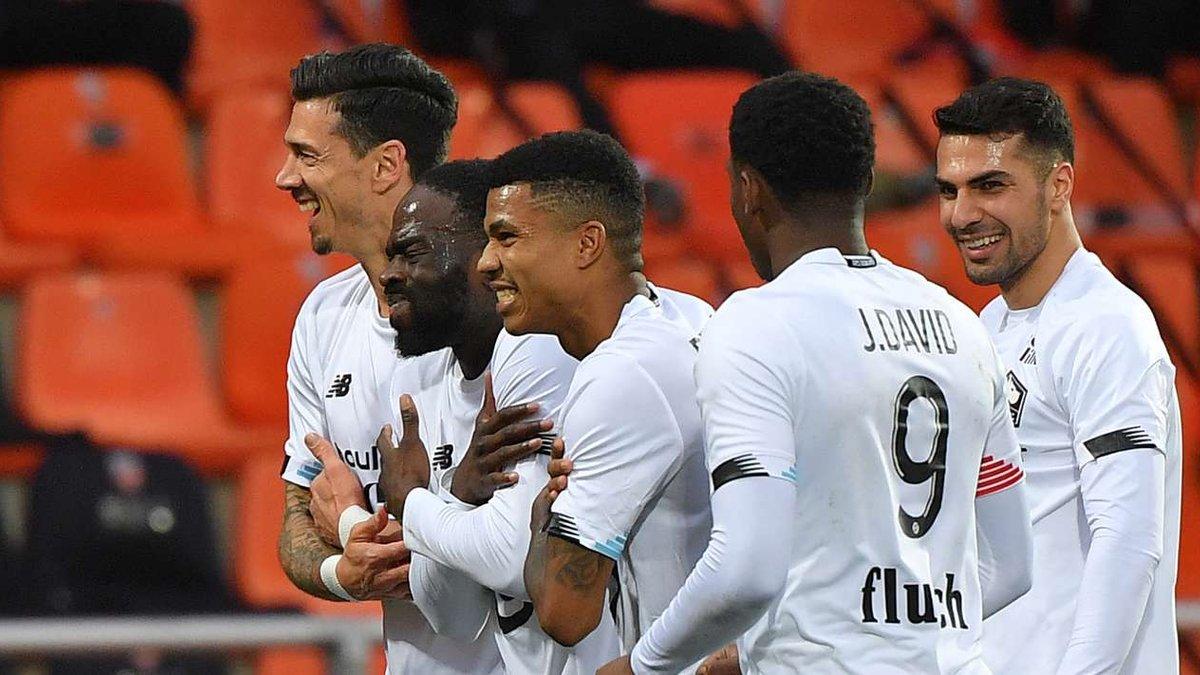Лига 1: Лилль разбил Лорьян и закрепился на первом месте, Ланс сохранил место в еврокубках