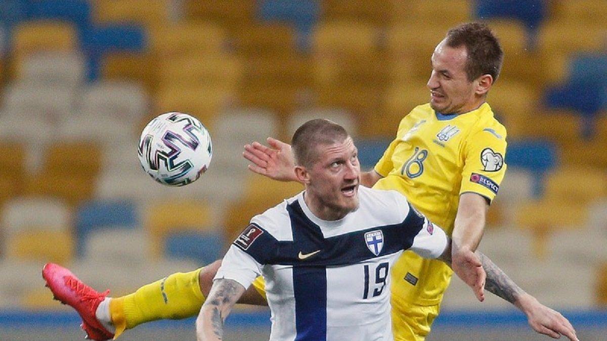Украина – Финляндия: Макаренко провел юбилейный матч в сине-желтой футболке