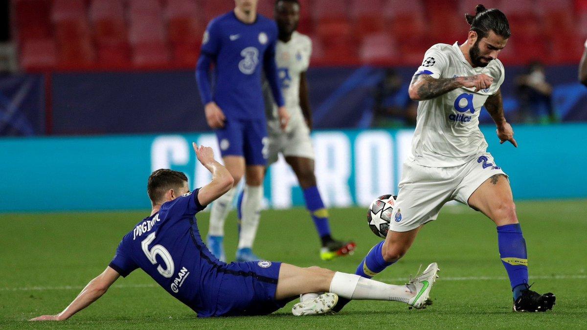 Челси уступил Порту с безумным голом бисиклетой, но вышел в полуфинал Лиги чемпионов