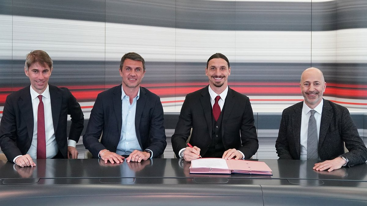 Милан официально продлил контракт с Ибрагимовичем