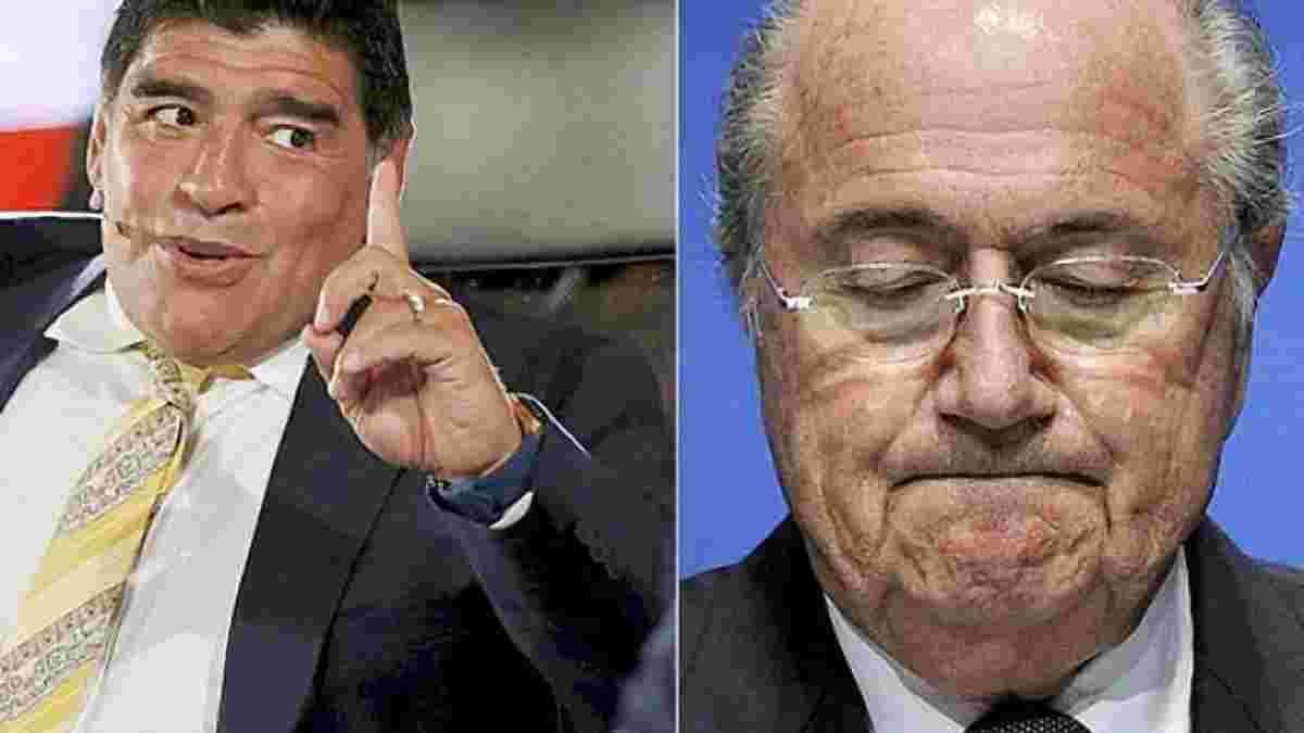 Марадона ФИФА с вечным диктатором - основа коррупции