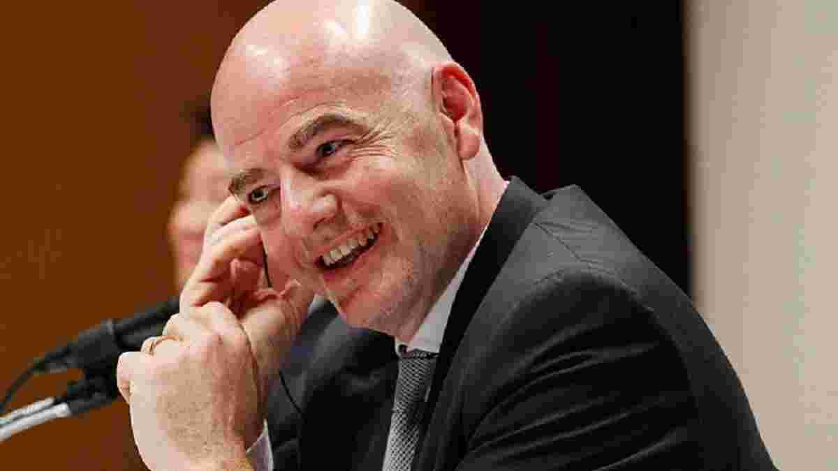 Інфантіно: Можемо збільшити кількість команд на чемпіонаті світу до 40