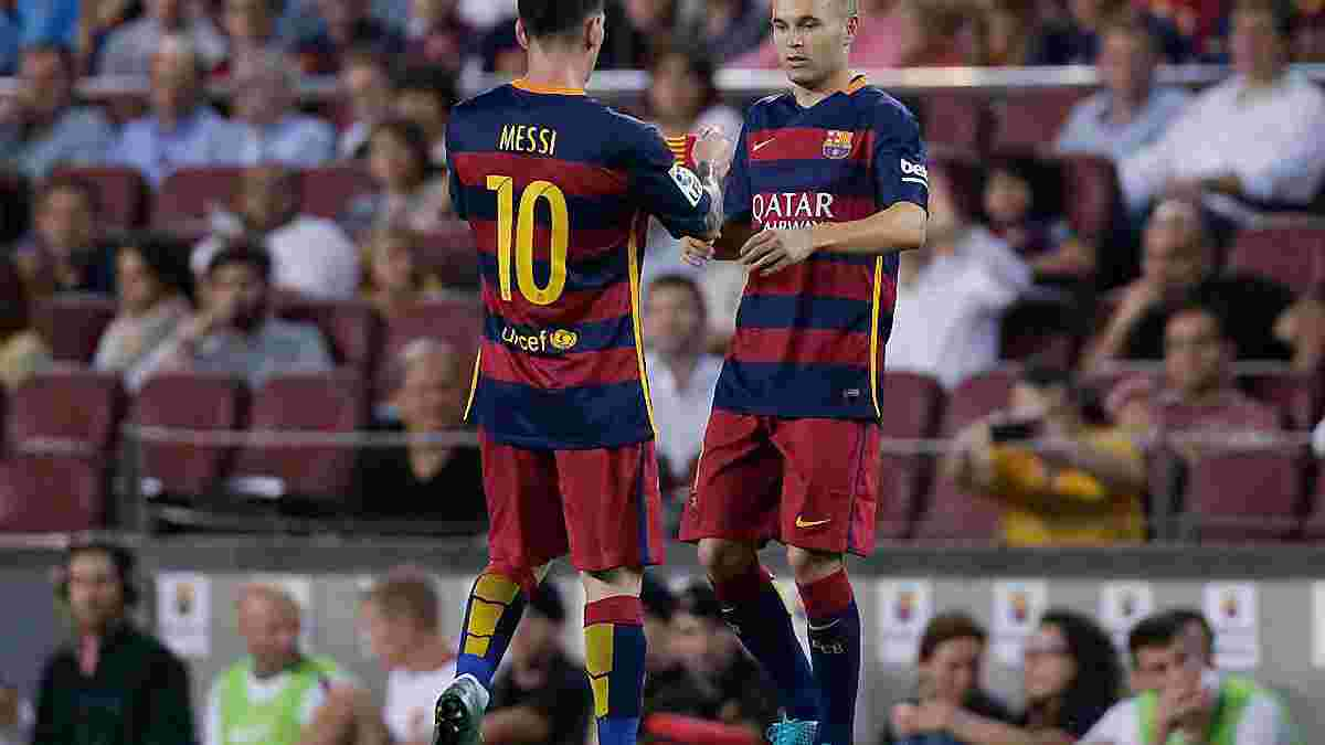 """Месси: Когда у """"Барселоны"""" проблемы на поле, я прошу Иньесту быть  возле меня"""
