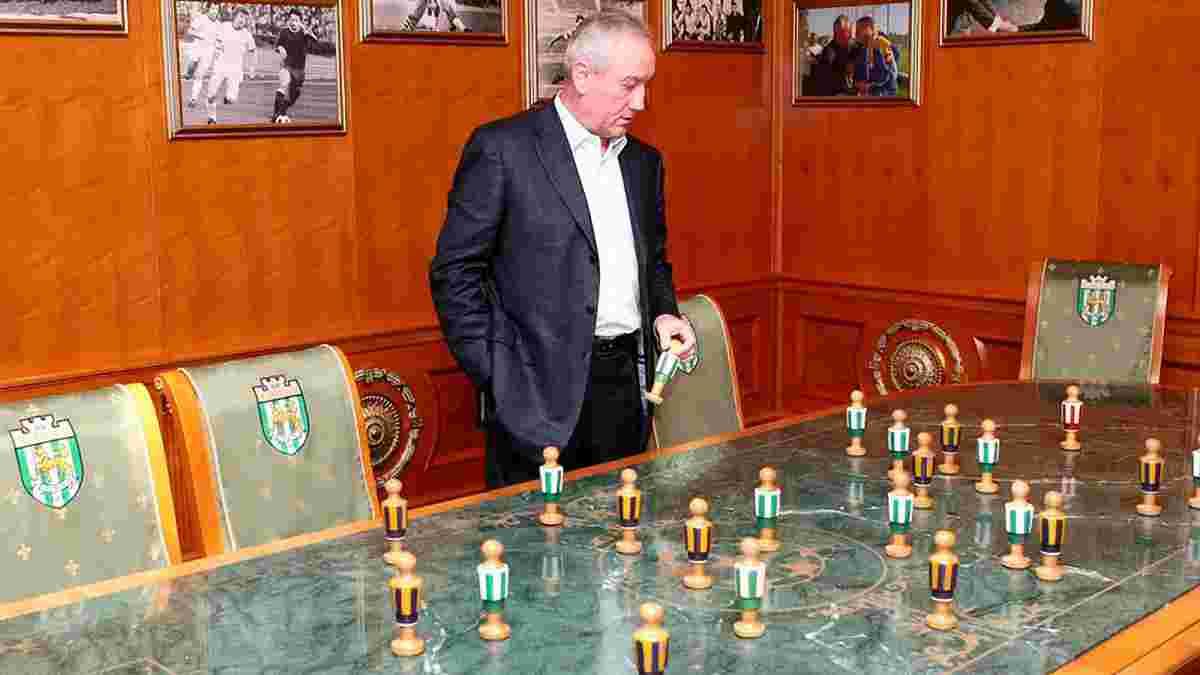 """Матч """"Карпаты"""" – """"Черноморец"""" посетили Дыминский вместе с Ярошем"""