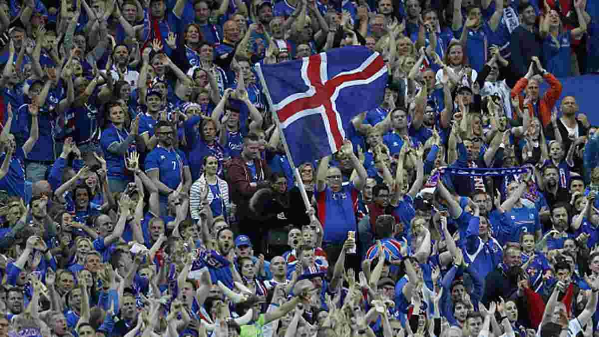 Исландские фаны повторили знаменитое празднование после выхода женской сборной на Евро-2017