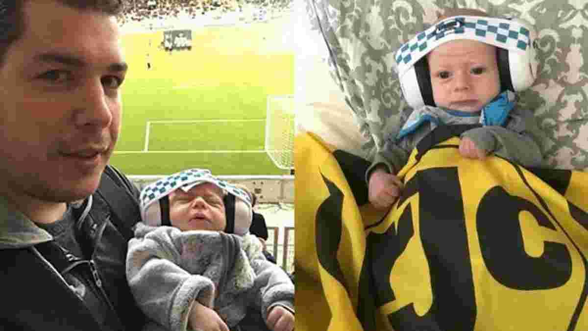 """Як батько годує 2-місячного сина Хаві на матчі """"Роди"""" у Нідерландах"""