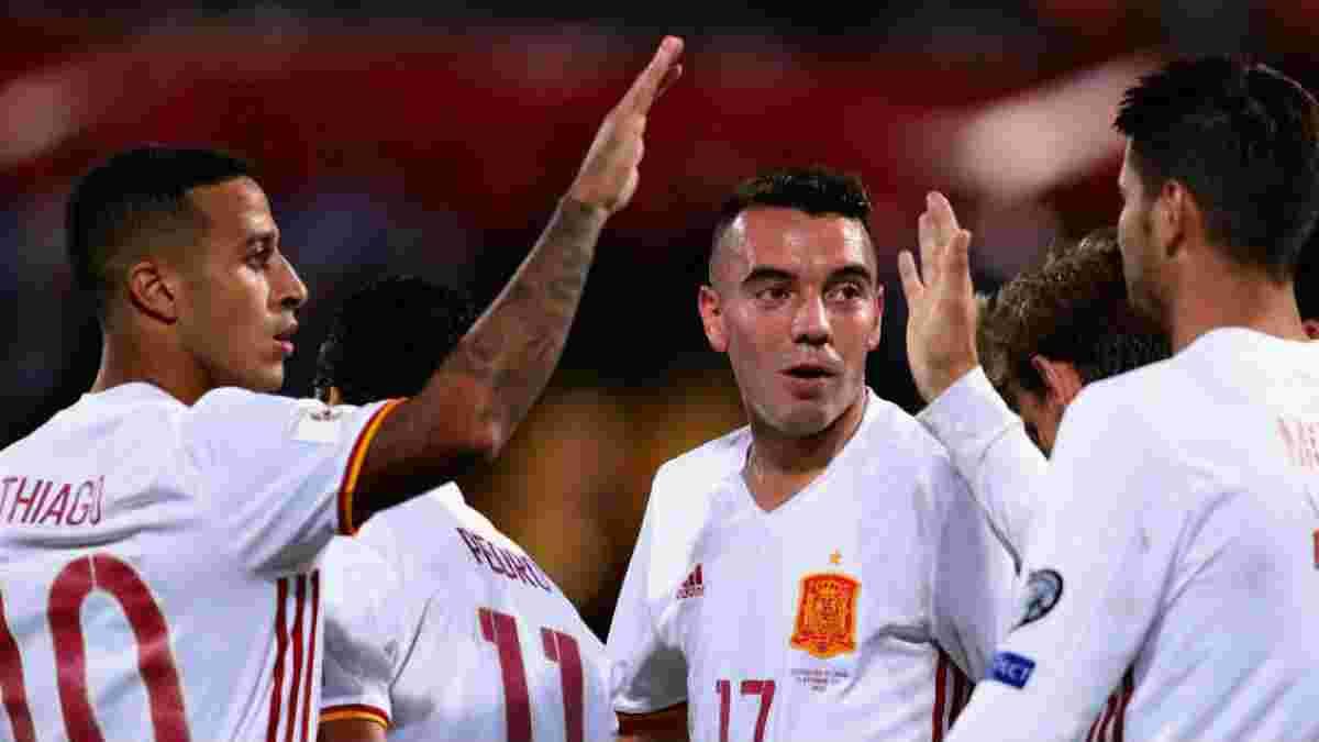 Іспанія вперше забила 16 м'ячів одному супернику в одному відбірковому циклі