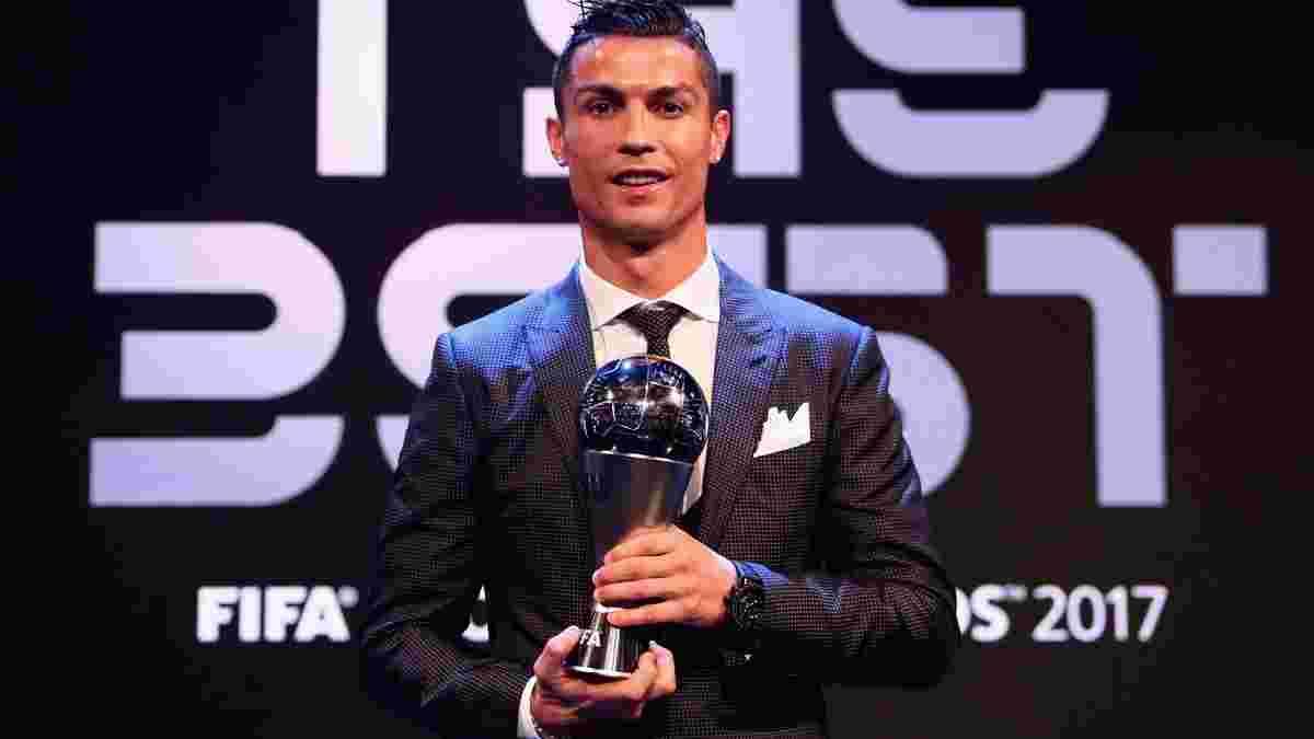 Роналду – найкращий футболіст 2017 року за версією ФІФА