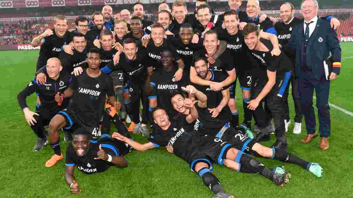 Брюгге стал чемпионом Бельгии